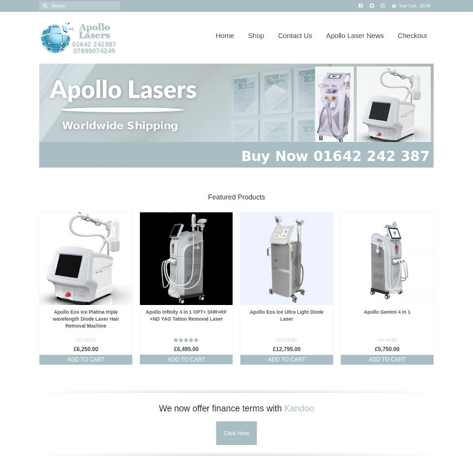 Apollo Lasers Website